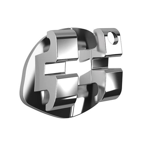 metal orthodontic bracket / twin