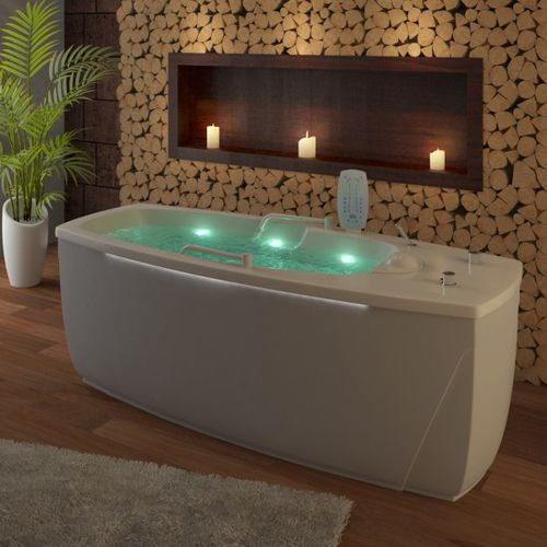 hydromassage bathtub with chromotherapy lamps