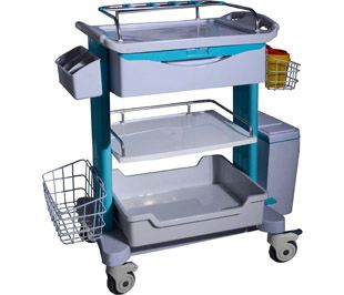 transfer trolley / dressing / multi-function / with drawer