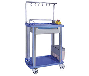 storage cart / treatment / with side bin / with drawer