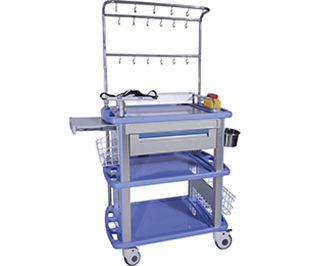 treatment cart / defibrillator / with side bin / with drawer