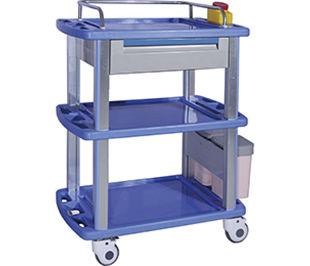 storage cart / nursing / waste / with waste bin