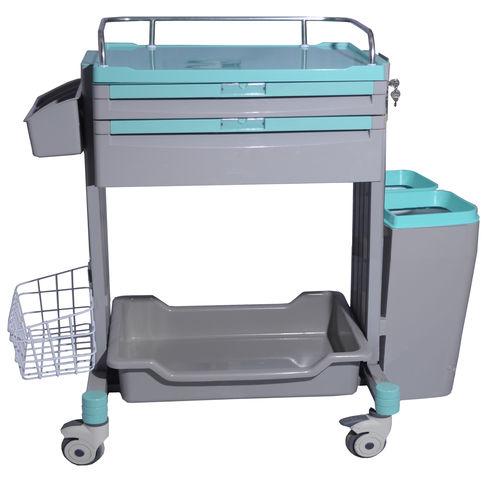 storage cart / nursing / with shelf / with waste bin