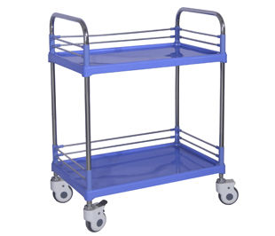 transport cart / dressing / with drawer / 2-tray