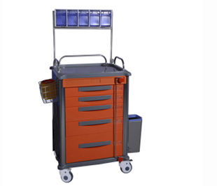 anesthesia cart / with shelf unit / with waste bin / with drawer