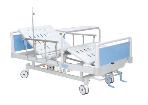 medical bed / hospital / manual / with locking wheels