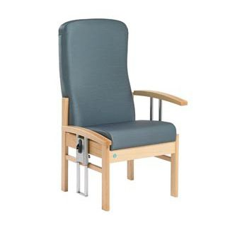 chair with high backrest / with armrests / height-adjustable