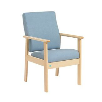 chair with armrests / height-adjustable