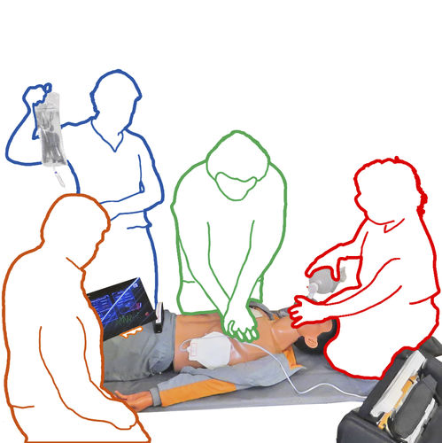 intubation training manikin / manual resuscitation / CPR / with electronic console