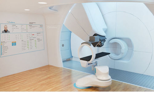 proton therapy cyclotron with integrated CT scanner