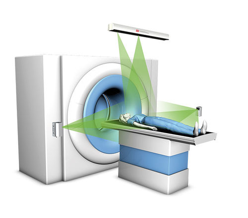 CT scan patient alignment laser / green / red / blue