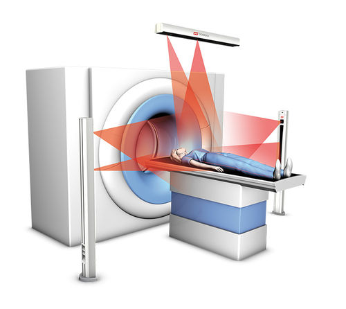 CT scan patient alignment laser / red