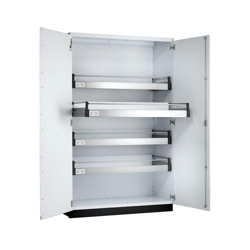 laboratory glassware cabinet / laboratory / with shelf / with door