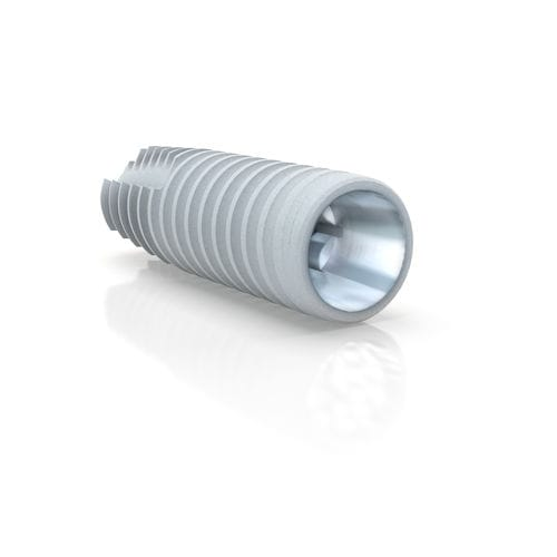 cylindro-conical dental implant / titanium / conical / self-tapping
