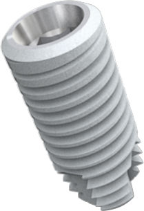 cylindro-conical dental implant / titanium / conical / internal hexagon