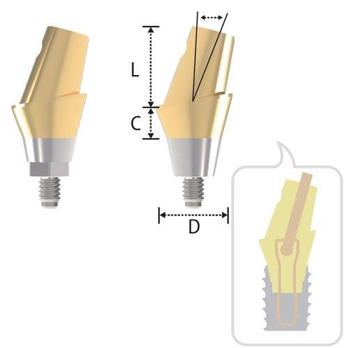 angled implant abutment