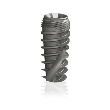 conical dental implant / titanium / internal hexagon