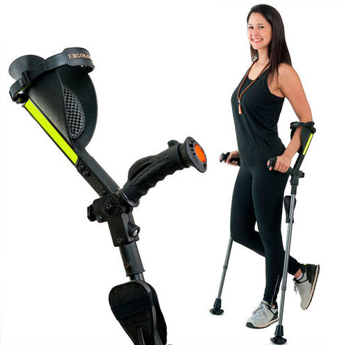 forearm crutch / height-adjustable