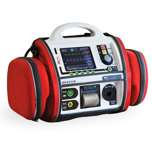semi-automatic external defibrillator / with ECG and SpO2 monitor