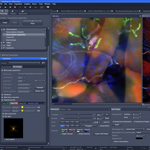 image analysis software / control / acquisition / navigation