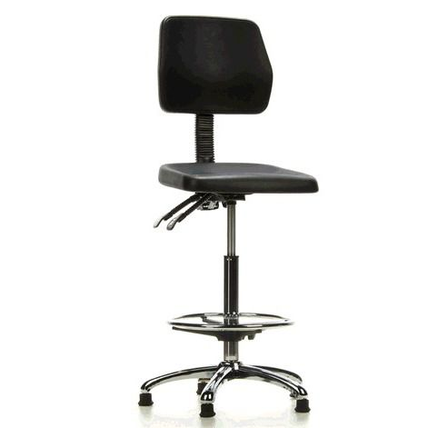 laboratory chair / office / on casters / height-adjustable