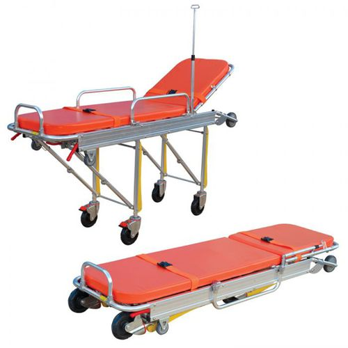 transport stretcher trolley / manual / height-adjustable / 3 sections
