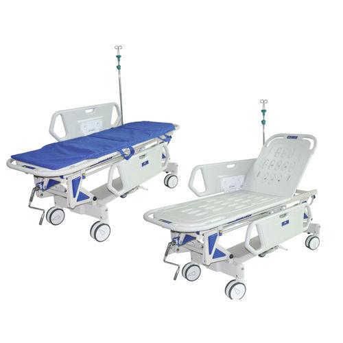 transfer stretcher trolley / emergency / manual / height-adjustable
