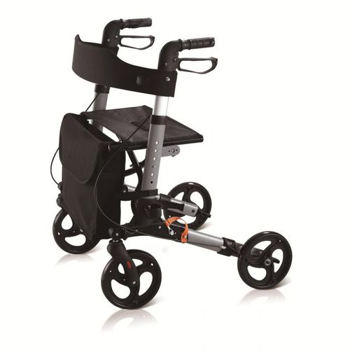 4-caster rollator / with seat / folding