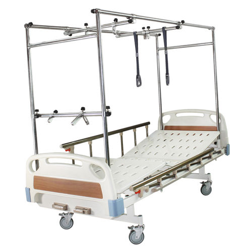 hospital bed / manual / tilting / on casters