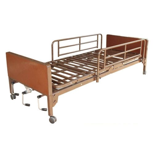 medical bed / homecare / manual / height-adjustable