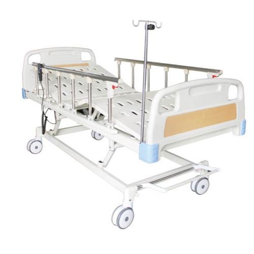 hospital bed / manual / height-adjustable / tilting