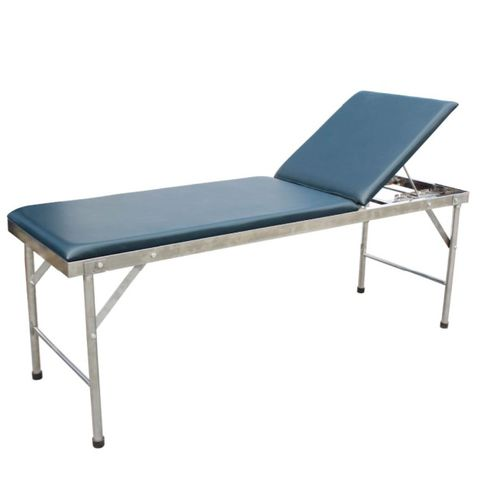 manual examination table / fixed-height / with adjustable backrest / tilting