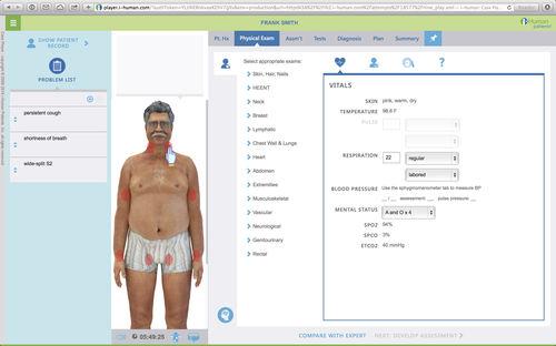 patient simulation software / training / diagnostic / web-based