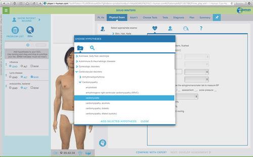 patient simulation software / training / diagnostic