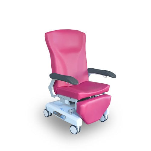 manual treatment chair / on casters / fixed-height