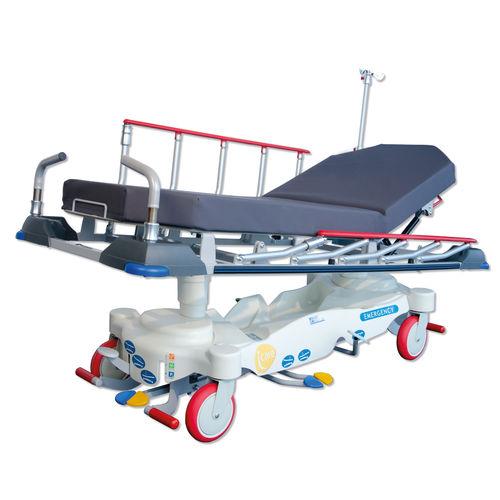 transfer stretcher trolley / emergency / manual / hydraulic