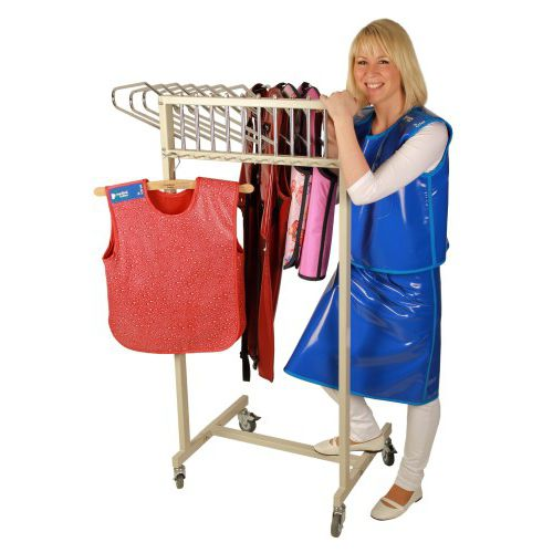 mobile X-ray apron rack
