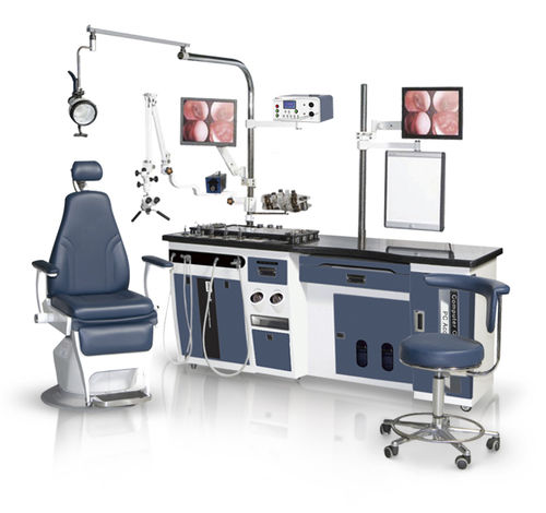 ENT workstation / with chair / with light / with monitor