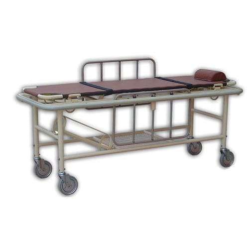 transfer stretcher trolley / manual / stainless steel / 3-section
