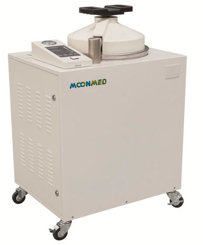 medical autoclave / laboratory / vertical / mobile