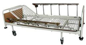 medical bed / manual / 2-section / 3-section