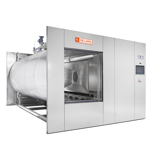 sterilizer for the pharmaceutical industry / air/steam / horizontal