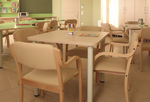 dining table / semicircular