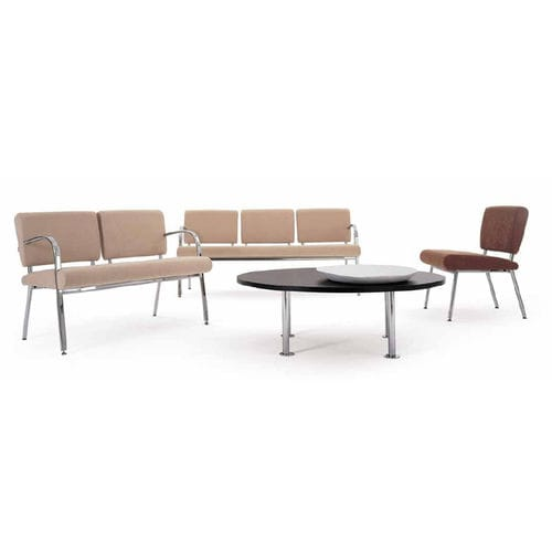 beam chair with armrests / 3-seater