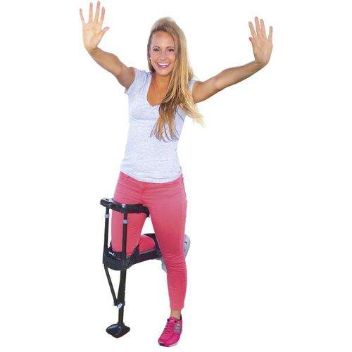 hands-free crutch / height-adjustable