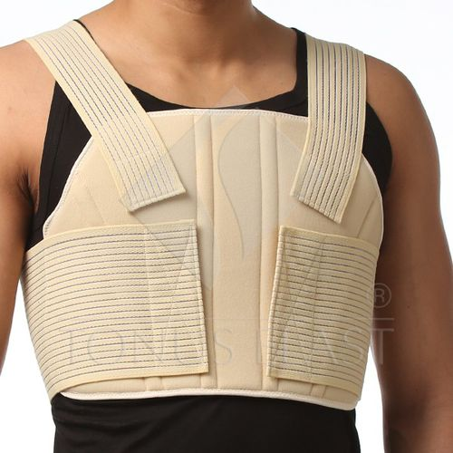thoracic support belt / adult / soft / with suspenders