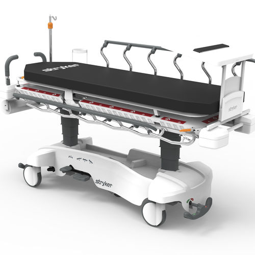 transport stretcher trolley / manual / medical imaging / 1-section