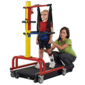 treadmill with harness system / pediatric