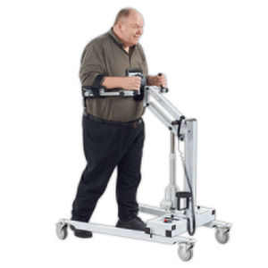 electric stander / on casters / bariatric