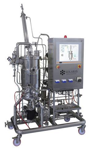 cell culture bioreactor / for microbial fermentation / sterilizable in-situ / with agitator